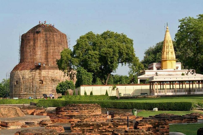 Dhamek Stupa, Sri Digamber Jain Temple, Sarnath 06