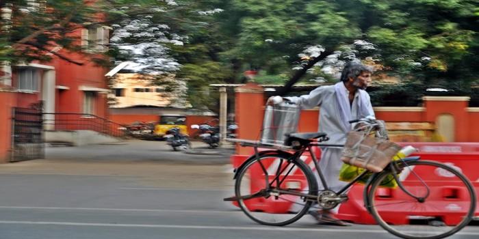 Man in Chennai. Foto: Laura Postelnicu