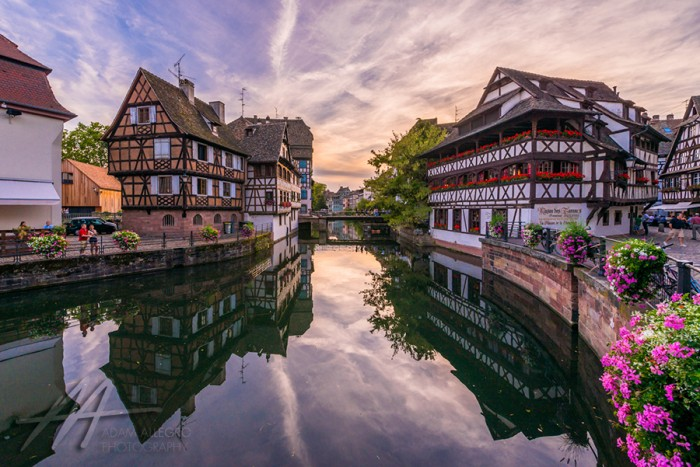 Sunset-Canals-Strasbourg-France
