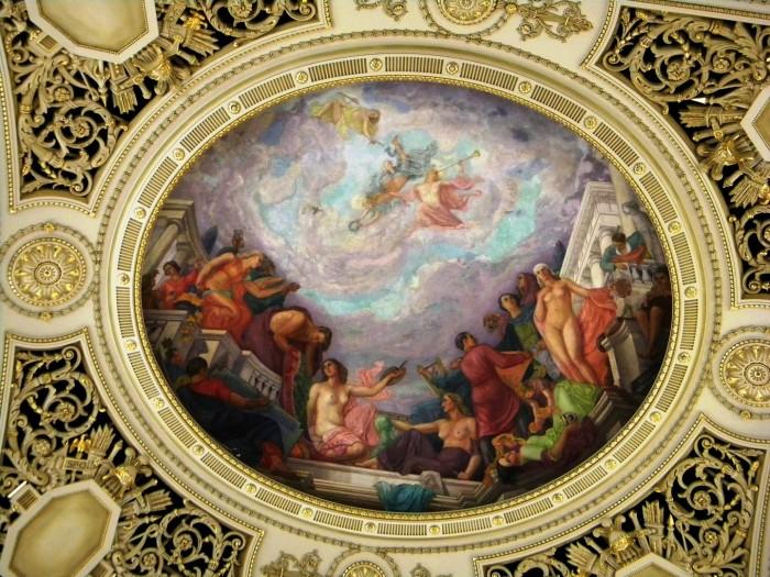 Apologia Artelor, fresca din Sala Tronului de la Palatului Regal Bucuresti
